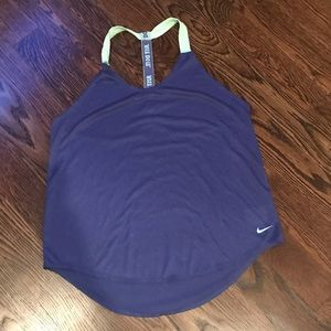 Nike workout top size large